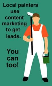 Painter use local content marketing to get business leads